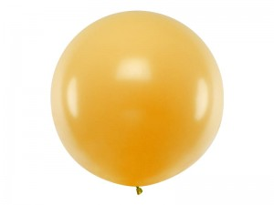 Balon okrągły 1m, Metallic Gold